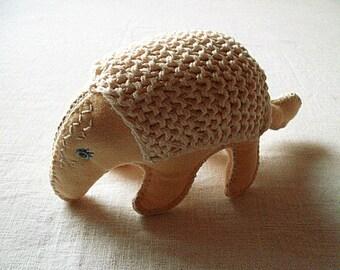 Armadillo Soft Toy Waldorf Toy Stuffed Animal Baby Safe
