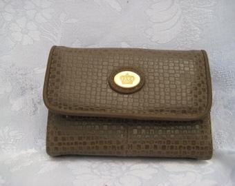 Faux snakeskin wallet, brown bifold wallet, 70s wallet, womens wallet