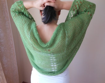 Shrug Bolero Summer Shrug Lace Green