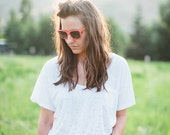 CORAL Wood Sunglasses, Handcrafted Wooden Eyewear, Polarized Lenses - Dark