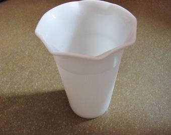 Milk glass vintage vase