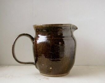 pitcher, studio pottery, rustic