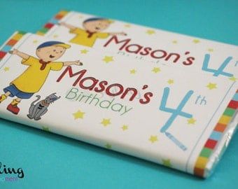 Caillou Candy Bar Wrapper