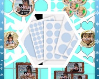 CUSTOM Edible Image Add Your Own Photo Theme Logo Character Circle Square Rectangle Cakepop Cupcake Cookie Brownie Toppers (E079)