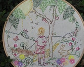Embroidery hoop art... One Summer's day