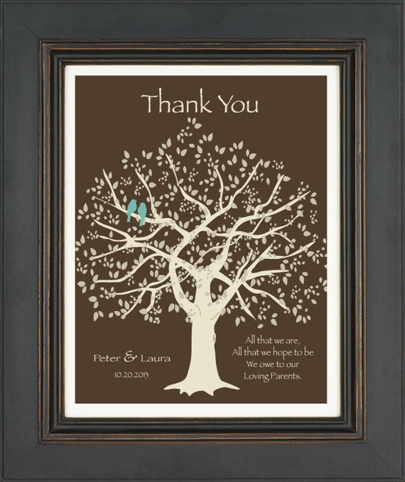 Thank You Wedding Gifts Parents : ... Gifts Guest Books Portraits & Frames Wedding Favors All Gifts