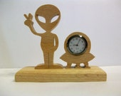 Alien Desk Clock