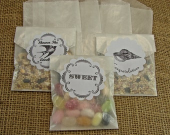 Glassine Favor Bags - Glassine Envelopes - Sachet - Party Favor - 100