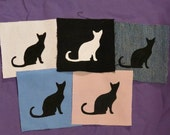 Cat Silhouette Patches