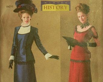 Victorian Jacket & Dress Costumes Making History Butterick Pattern 4212  Uncut   Sizes 6-8-10, 12-14-16