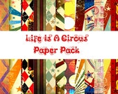 Life Is A Circus digital Paper Pack