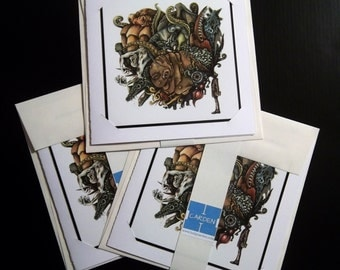 Greeting Cards 3pack - The Retching: HP Lovecraft's Great Old Ones