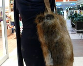 Brown Lynx Faux Fur Shoulder Shopper Bag - DataDesignBoutique