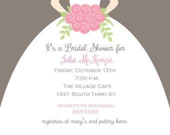 Bridal Gown Shower Invitation