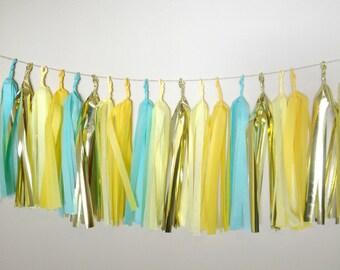 SUNNY SKIES - Tissue Paper Tassel Garland - Party - Wedding