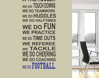 Football Rules Wall Decal   Football Wall Decal   Sports Wall Decal    Football Wall Decor Part 82