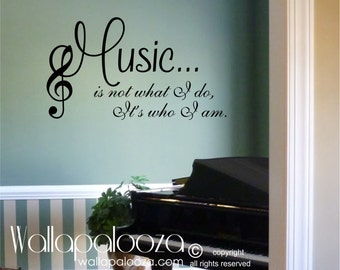 Wonderful Music Wall Decal   Music Wall Decor   Music   Love Music   Musical Wall Art Part 7