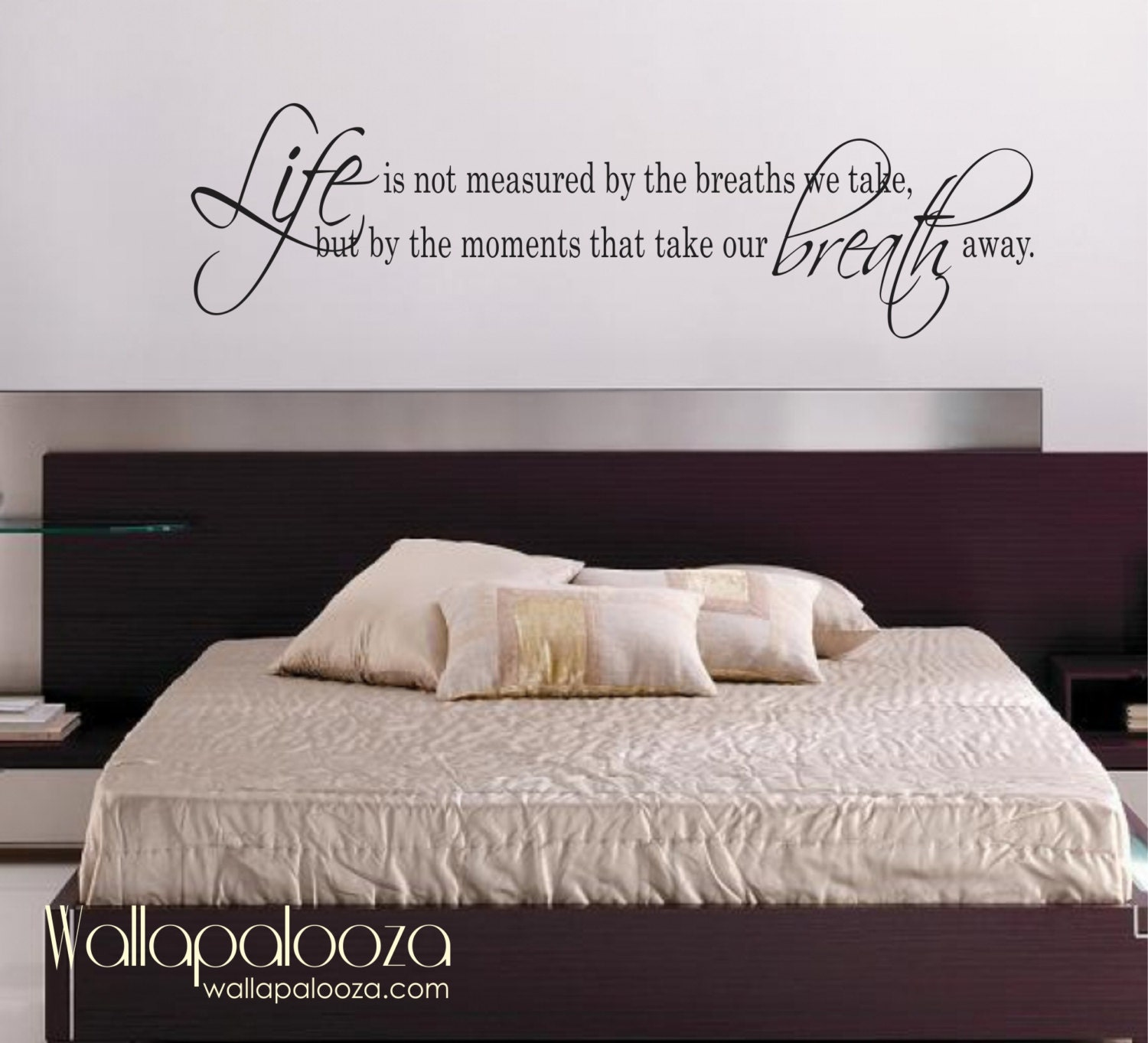 Life is not measured wall decal love wall decal bedroom for Bedroom wall decals