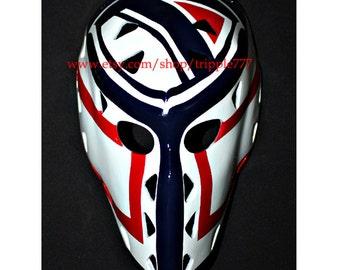 Hockey mask, Hockey goalie, NHL ice hockey, Roller Hockey, Hockey goalie mask, Hockey helmet Doug Soetaert mask HO81
