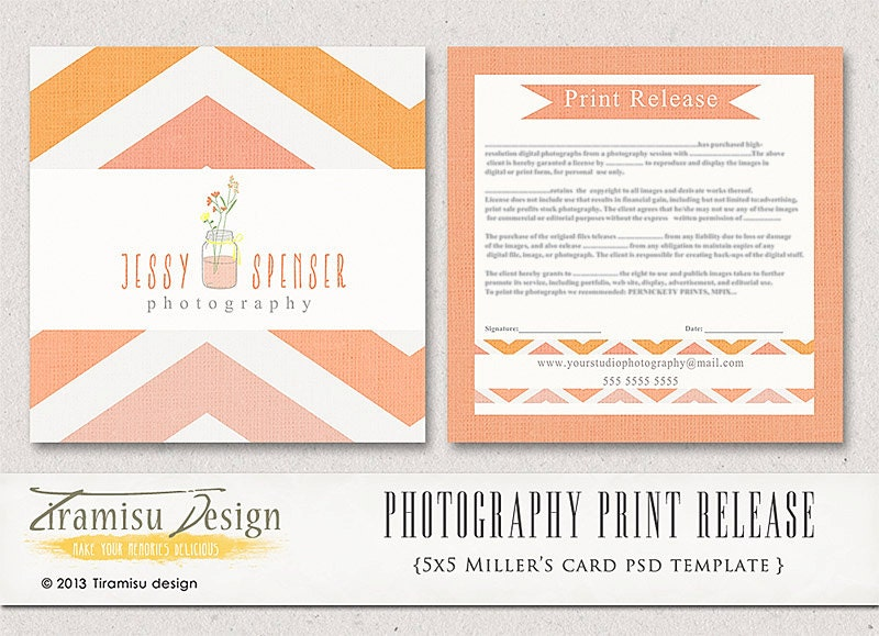 Photography Print Release X Template Instant Download
