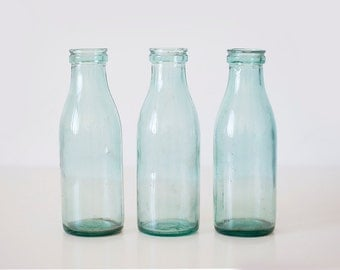 Vintage soviet milk bottles - set of 3