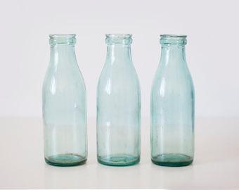 Vintage soviet milk bottles - set of 3