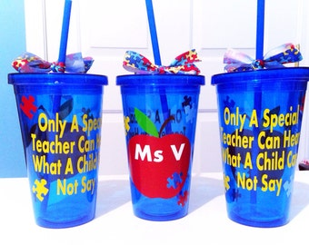 Personalized Tumbler Autism Special Education