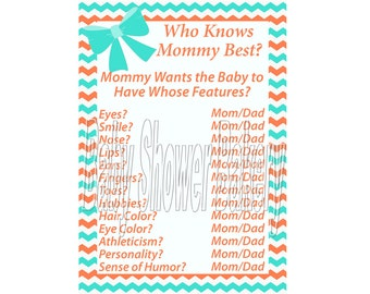 best printable coral and teal baby shower game southern baby shower