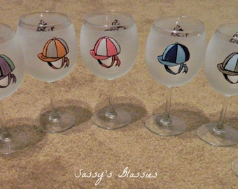 Horse Race Wine Glasses