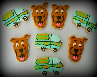 SALE--Scooby Doo Sugar Cookie Favors 12ct-Scooby Doo Birthday-Scooby Doo-Cookie Party Favors