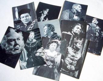 Ten Stratford Upon Avon Vintage Postcards Male Actors