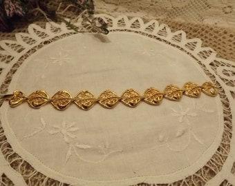 Bring Back the Bling of the 80s Gold-toned Vintage Bracelet