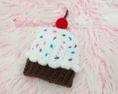 Crochet Pattern Cupcake Beanie (Newborn - Adult) - PDF -  Instant Digital Download
