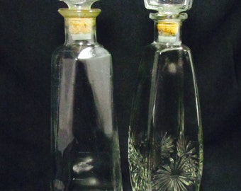 Liquor Decanters, Alcohol Decanters, Vintage Decanters, Glass Decanters, Mid Century Decanters, Glass Bottles