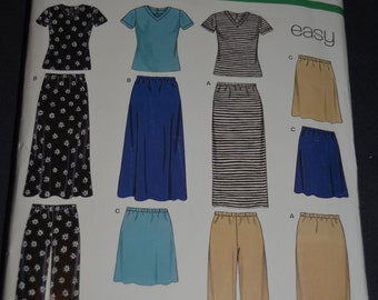 New Look 6730  Misses Top Skirt  and Pants Sewing Pattern UNCUT - Size XS - XL