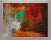 """Original Abstract Texture Modern Painting by Jagoda Lane- 20""""x24""""- """"Gaining Strenght"""""""