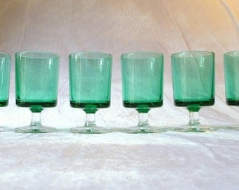Luminarc Cavalier, 7.5cm liqueur glasses in turquoise, set of 6
