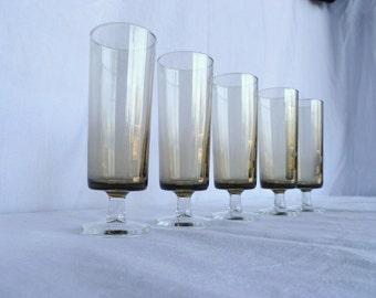 Luminarc champagne flutes in smokey grey, set of 6
