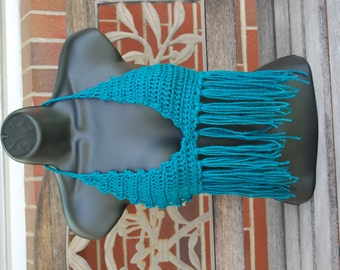 Turqoise Dream Hippie Crochet  Festival Top