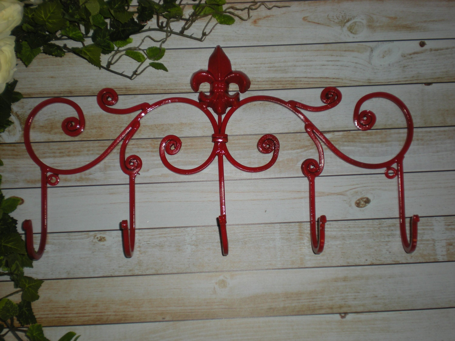 Banner Red Metal Wall Hook Wall Hooks Fleur By