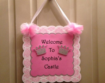 Princess Door Sign....Happy Birthday Door Sign
