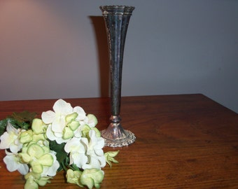 Vintage Silverplate Vase from Italy