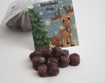 Reindeer Poop Candle Tarts, Holiday Tarts For Naughty List, Reindeer Poop Poem, Holiday Gag Gift,