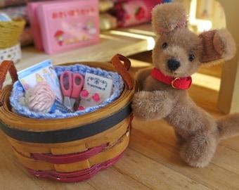 Blythe Barbie Size Miniature Basket