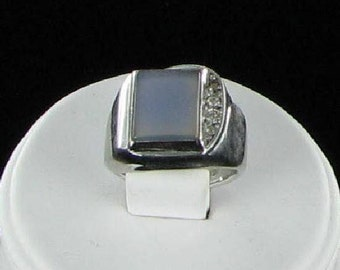 Lind Sterling Silver Vintage Rhinestone Ring Size 8