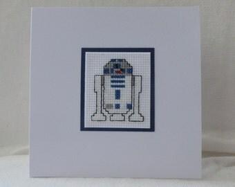 Star Wars R2-D2 Cross Stitch Card