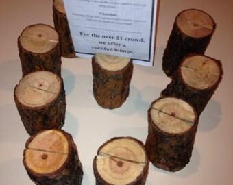 9 Menu Holders (pine)