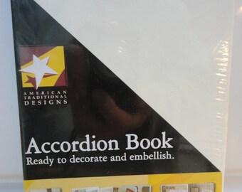 American Traditional Cream Color Scrapbook Accordion Book