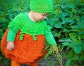 Pumpkin Costume Crochet Pattern ~ Halloween