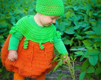 Pumpkin Costume Crochet Pattern ~ Halloween